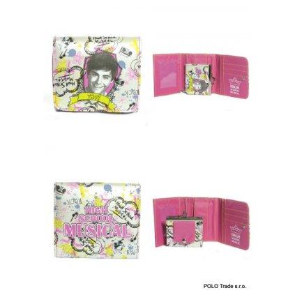 Detská peňaženka High School Musical (Farba Tmavoružová, Veľkosť 11x9x3cm)