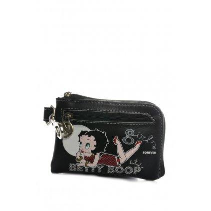 Peňaženka/kľúčenka Betty Boop (Farba Čierna, Veľkosť 11x8x1cm)