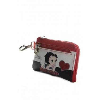 Peňaženka a kľúčenka Betty Boop (Farba Červená, Veľkosť 11x8cm)