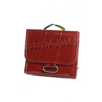 Dámska lesklá peňaženka - malá (Farba Tmavočervená, Veľkosť 8x7cm)