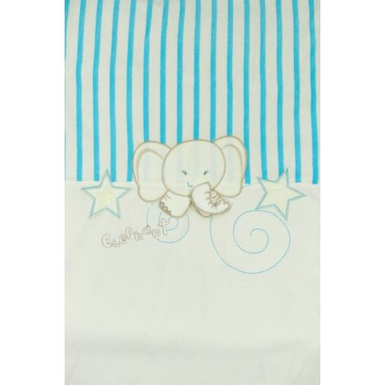 Detská deka sloník 90x90cm, PoloTrade (Farba Svetloružová, Veľkosť 100x100cm)