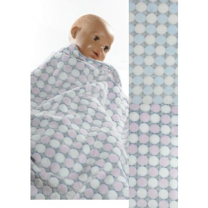 Detská deka guličky 90x90cm, PoloTrade (Farba Svetlomodrá, Veľkosť 90x90cm)