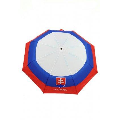 Skladací dáždnik Slovakia, trikolóra s erbom, 30cm (Farba Multifarebné, Veľkosť 26cm)