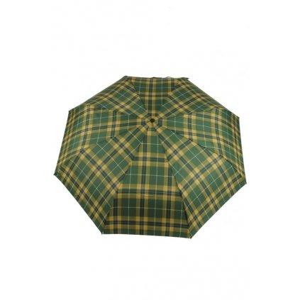 Automatický skladací dáždnik - káro, 25cm (Farba Hnedá, Veľkosť 80cm)