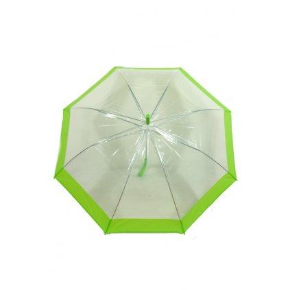 Dáždnik priehladný - farebný pás (Farba Červená, Veľkosť 81cm)