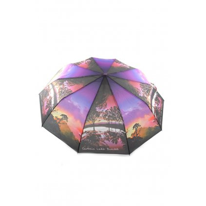 Automatický  skladací dáždnik (Farba Tmavomodrá, Veľkosť P:110cm)