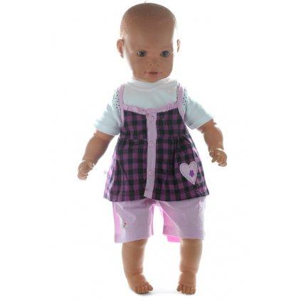 Detský komplet s krátkymi nohavicami (Farba Šedá, Veľkosť 9m)