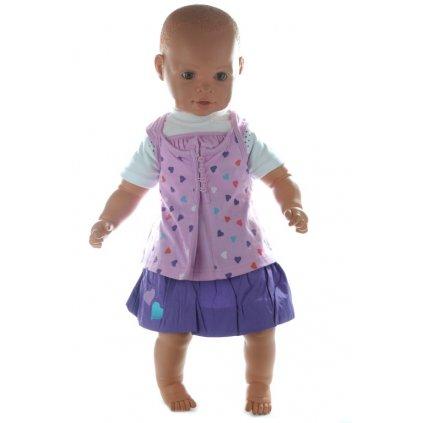 Detský komplet so sukničkou (Farba Ružová, Veľkosť 9m)