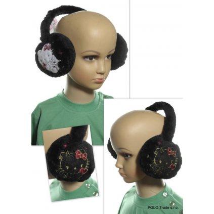 Hello Kitty klapky na uši (Farba Čierna, Veľkosť UNI)