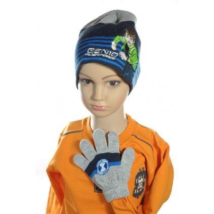 Čiapka a rukavice - Ben10 (Farba Modrá, Veľkosť 54)