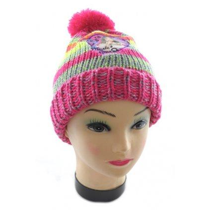 Detská čiapka s brmbolcom - Violetta (Farba Svetlofialová, Veľkosť 54)