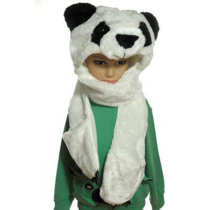 Čiapka dámska - medveď ladový PANDA (Farba Biela, Veľkosť UNI)