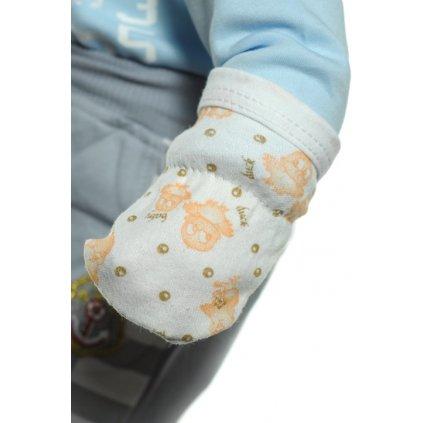 Detské kojenecké rukavičky, 12 kusov v balení (Farba Svetložltá, Veľkosť UNI)