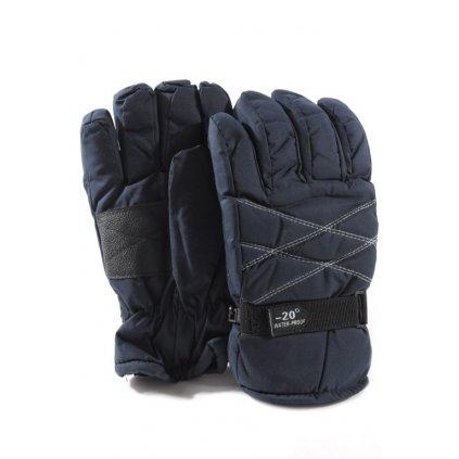 Pánske hrubé zimné rukavice (Farba Tmavozelená, Veľkosť UNI)