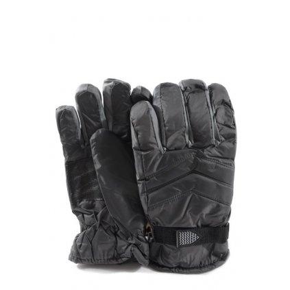 Pánske lyžiarske rukavice na suchý zips (Farba Tmavomodrá, Veľkosť UNI)