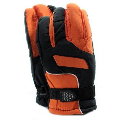 Pánske lyžiarske rukavice suchý zips (Farba Žltá, Veľkosť UNI)