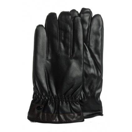 Pánske koženkové rukavice jednofarebné (Farba Čierna, Veľkosť 2XL)