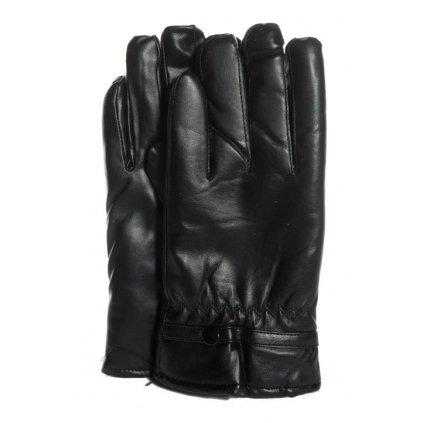 Pánske koženkové rukavice čierne (Farba Čierna, Veľkosť 2XL)