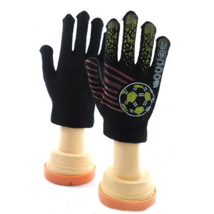 Chlapčenské rukavice Futbal (Farba Tmavozelená, Veľkosť 10-16r)