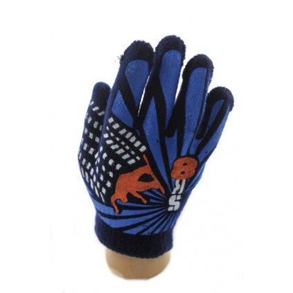 Chlapčenské rukavice- SK8 (Farba Tmavozelená, Veľkosť 10-16r)