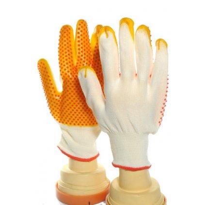 Pracovné rukavice pogumované (Farba Biela, Veľkosť Neurčená)