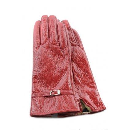 Lesklé kožené rukavice (Farba Čierna, Veľkosť L)