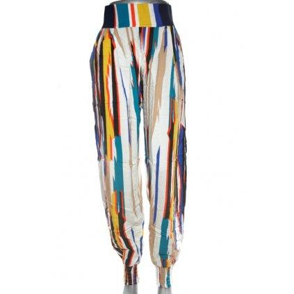 Nohavice dámske - dúhové (Farba Biela, Veľkosť S/M)