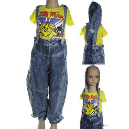 Nohavice s trakmi a kapucňou - detské (Farba Modrá, Veľkosť 5r)
