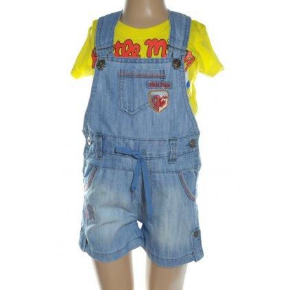 Krátke nohavice - na traky (Farba Modrá, Veľkosť 2r)