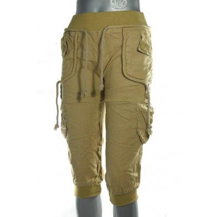 Dámske trojštvrťové nohavice kapsáče (Farba Tmavozelená, Veľkosť S)