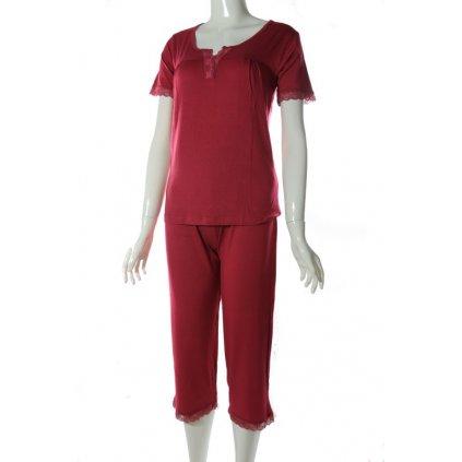 Dámske pyžamo - čipka (Farba Svetlohnedá, Veľkosť XL)