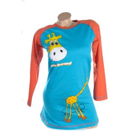 Detská nočná košeľa - Žirafa. (Farba Svetlooranžová, Veľkosť 11/12r)