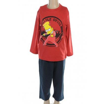 Pyžamo Bart Simpson - DEVIL (Farba Červená, Veľkosť 3r)