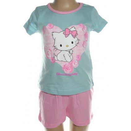 Pyžamo Charmmy Hello Kitty - srdce (Farba Svetlomodrá, Veľkosť 3r)
