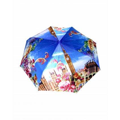 Automatický,skladací dáždnik vzor BIG BEN MOD (Farba Multifarebné, Veľkosť 30cm)