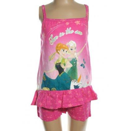 Dievčenský kraťasový komplet Frozen - Fun In The Sun, tielko na ramienka (Farba Ružová, Veľkosť 4r)