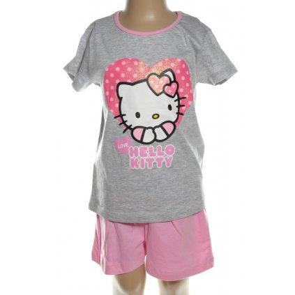 Pyžamo Hello Kitty - srdce love (Farba Svetlošedá, Veľkosť 3r)