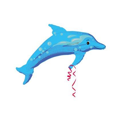 Balón delfín modrý (Farba Svetlomodrá, Veľkosť 96cm)