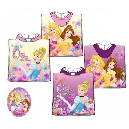 Dievčenské pončo Princess ONCE UPON A TIM (Farba Ružová, Veľkosť Neurčená)
