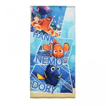Plážová osuška Dory, Nemo a Hank, Sun City (Farba Multifarebné, Veľkosť 70x140cm)