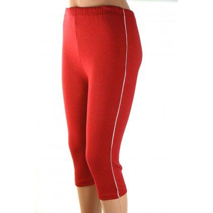 Dámske 3/4 capri streče červené (Farba Tmavočervená, Veľkosť S)