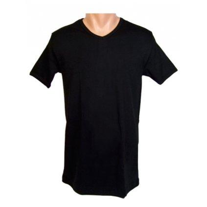 Pánske jednofarebné tričko V-výstrih FUTKU (Farba Biela, Veľkosť S)