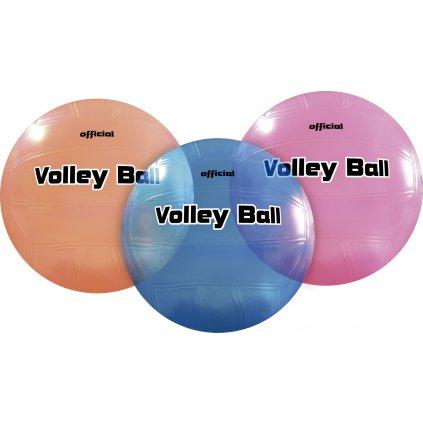 Lopta - OFFICIAL VOLLEY BALL (Farba Modrá, Veľkosť 22cm)