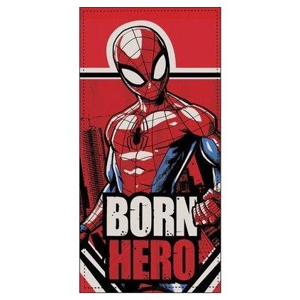 Osuška Spiderman Born Hero, Sun City (Farba Červená, Veľkosť 70x140cm)
