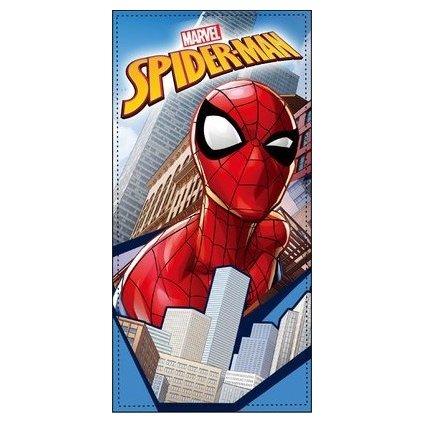 Osuška Spiderman Mesto, Sun City (Farba Svetlomodrá, Veľkosť 70x140cm)