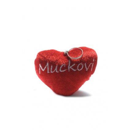 Kľúčenka malé plyšové srdiečko - Muckovi (Farba Červená, Veľkosť 10x8cm)