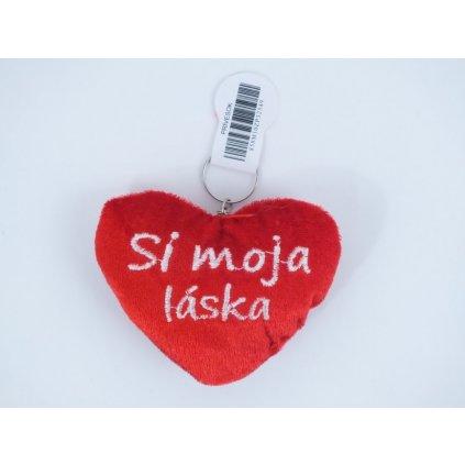 Kľúčenka malé plyšové srdiečko - Si pre mňa jediná (Farba Červená, Veľkosť 10x8cm)