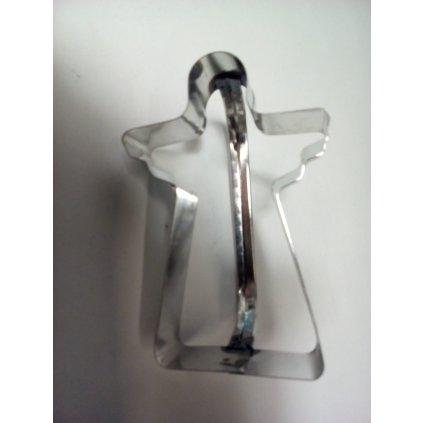 Vykrajovačka s úchytkou anjel (Farba Strieborná, Veľkosť 8cm)