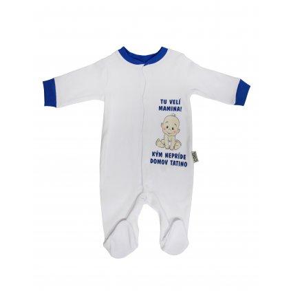 Chlapčenský kojenecký overal - tu velí mamina (Farba Tyrkysová, Veľkosť 3m)