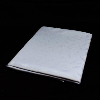 Teflónový obrus 140cm - listy, PoloTrade (Farba Biela, Veľkosť P:140cm)